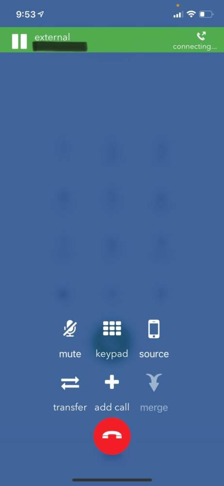 Star2Star Mobile App - Call Screen