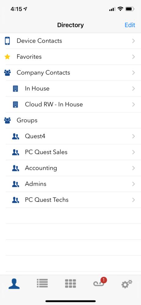 Star2Star Mobile App - Directory