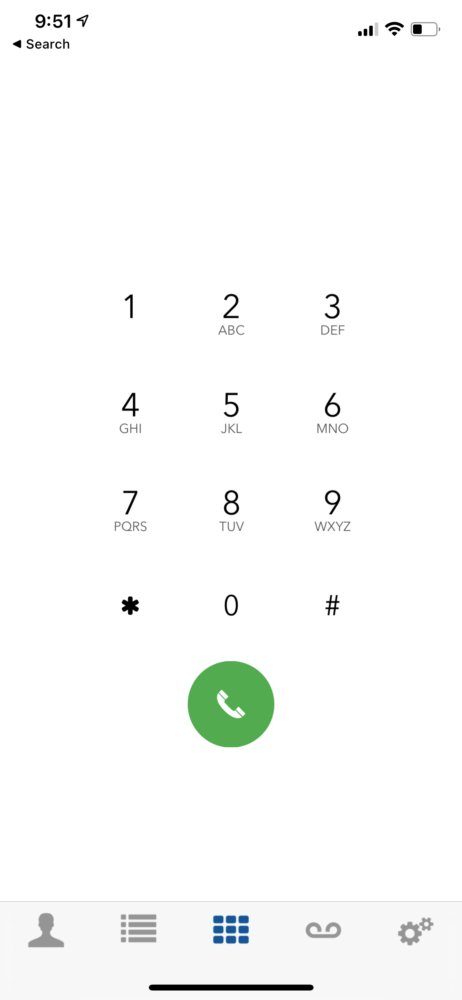 Star2Star Mobile App - Keypad